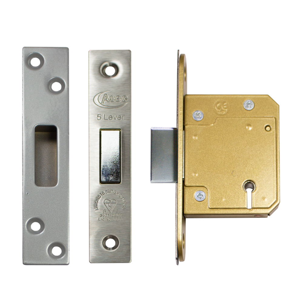 Asec As11314 Bs 5 Lever Mortice Deadlock Only 163 12 90 In
